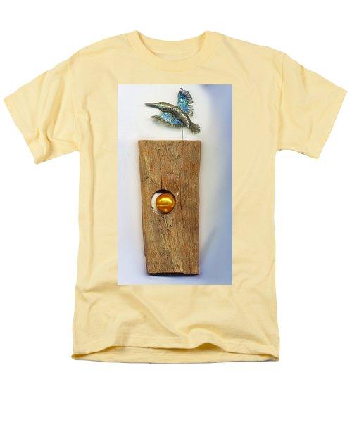 Men's T-Shirt  (Regular Fit) featuring the sculpture Gold  Orb by Hartmut Jager