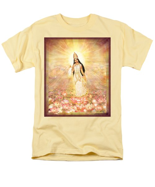 Great Mother Goddess In A Higher Dimension Men's T-Shirt  (Regular Fit) by Ananda Vdovic