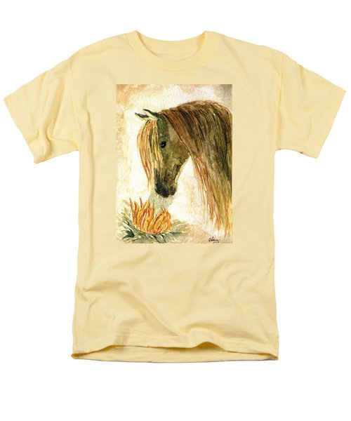 Greeting A Sunflower Men's T-Shirt  (Regular Fit) by Angela Davies