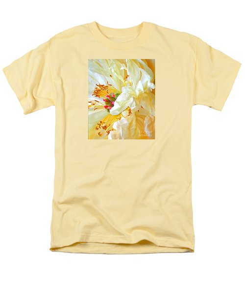 Heart Of Peony Men's T-Shirt  (Regular Fit) by Nareeta Martin