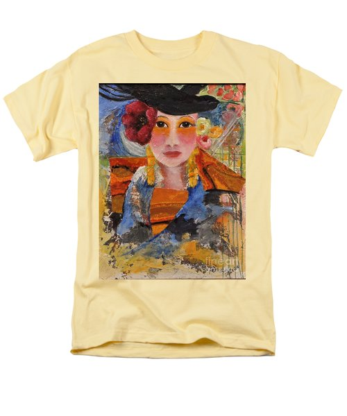 Her Red Flower Men's T-Shirt  (Regular Fit) by Glory Wood