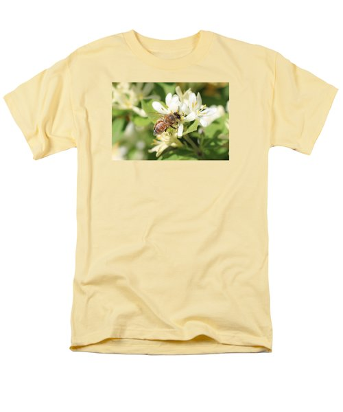 Honeybee And Honeysuckle Men's T-Shirt  (Regular Fit) by Lucinda VanVleck
