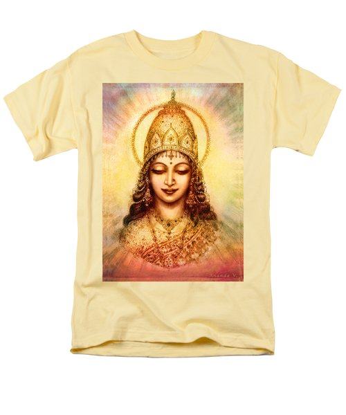 Men's T-Shirt  (Regular Fit) featuring the mixed media I Abide In My Own Blissful Self by Ananda Vdovic