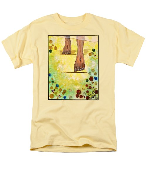 Men's T-Shirt  (Regular Fit) featuring the painting I Knock by Cassie Sears