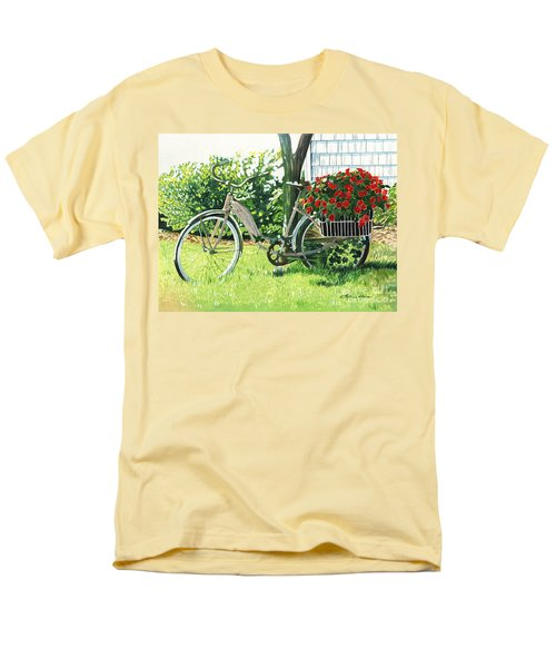 Men's T-Shirt  (Regular Fit) featuring the painting Impatiens To Ride by LeAnne Sowa