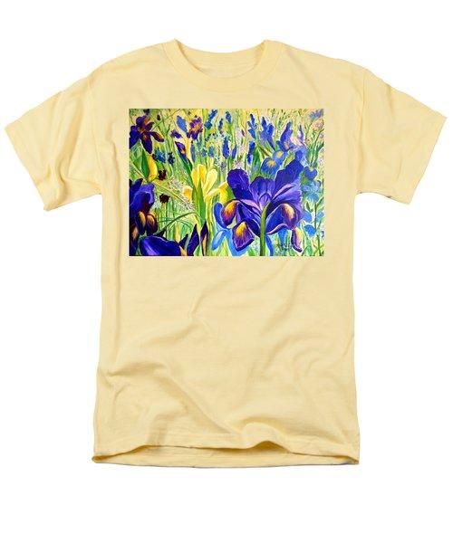 Iris Spring Men's T-Shirt  (Regular Fit) by Julie Brugh Riffey