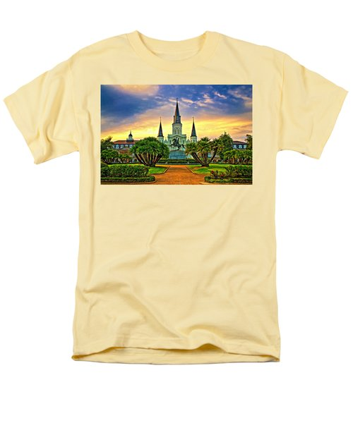 Jackson Square Evening - Paint Men's T-Shirt  (Regular Fit) by Steve Harrington