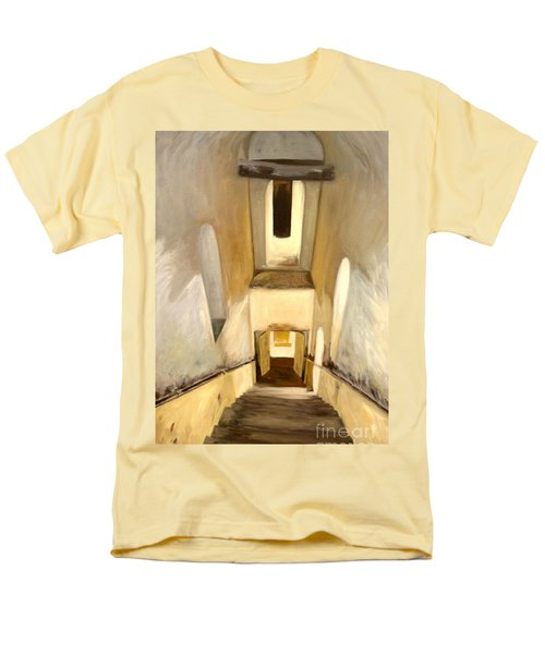Men's T-Shirt  (Regular Fit) featuring the painting Jantar Mantar Staircase by Mukta Gupta