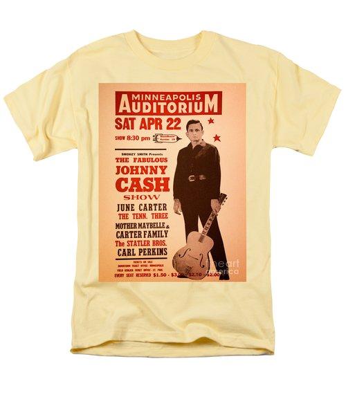 Johnny Cash Men's T-Shirt  (Regular Fit) by Bob Hislop