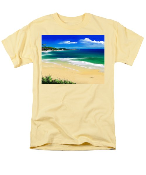 Kauai Beach Solitude Men's T-Shirt  (Regular Fit) by Anthony Fishburne