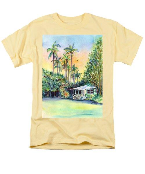 Kauai West Side Cottage Men's T-Shirt  (Regular Fit) by Marionette Taboniar