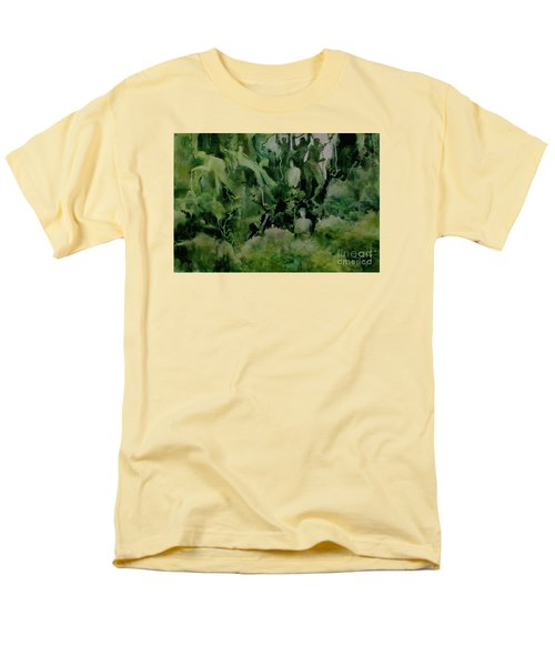 Men's T-Shirt  (Regular Fit) featuring the painting Kudzombies by Elizabeth Carr