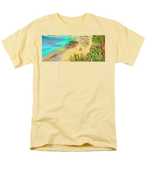 La Spiaggia Men's T-Shirt  (Regular Fit) by Loredana Messina
