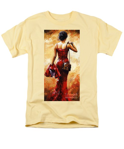Lady In Red #25 Men's T-Shirt  (Regular Fit) by Emerico Imre Toth