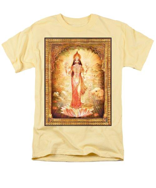 Lakshmi Goddess Of Fortune With Lighter Frame Men's T-Shirt  (Regular Fit) by Ananda Vdovic