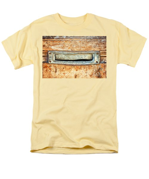 Lettere Letters Men's T-Shirt  (Regular Fit) by Silvia Ganora