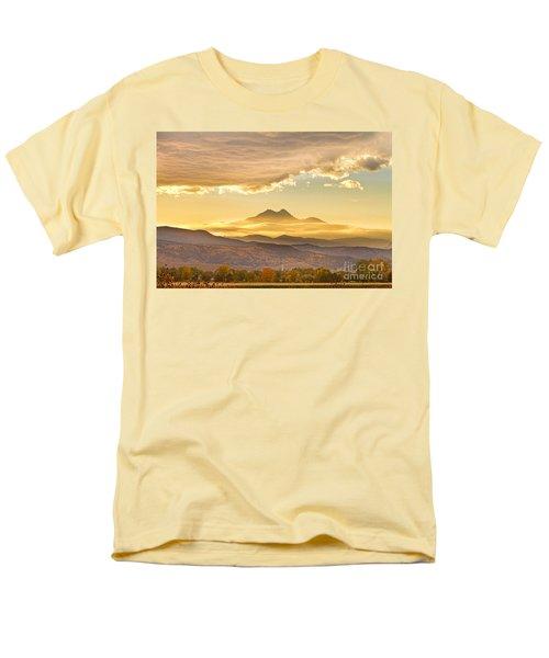 Longs Peak Autumn Sunset Men's T-Shirt  (Regular Fit)