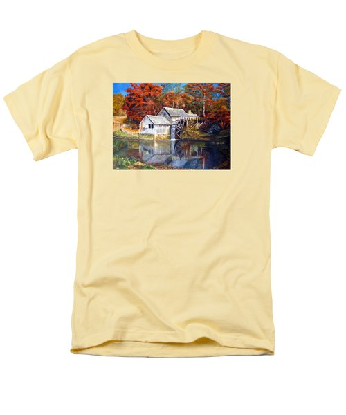 Mabry Mill Blue Ridge Virginia Men's T-Shirt  (Regular Fit) by LaVonne Hand