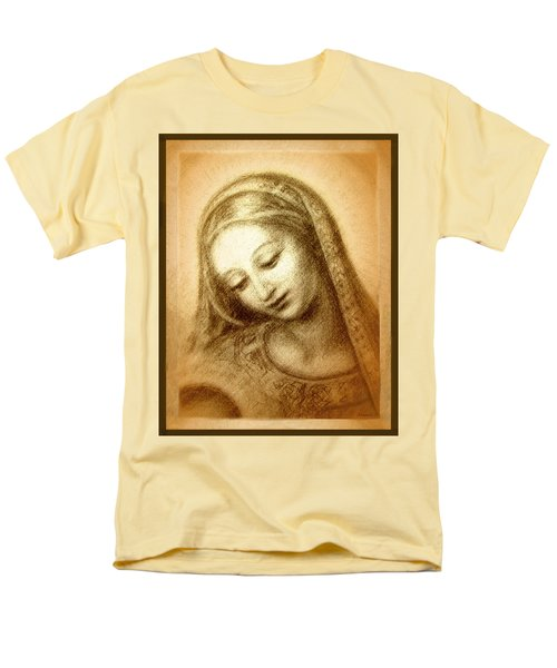 Men's T-Shirt  (Regular Fit) featuring the mixed media Madonna With The Dove Face by Ananda Vdovic
