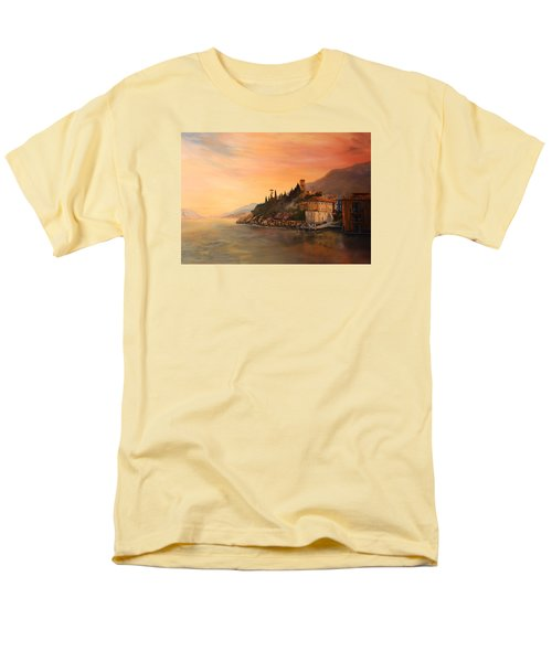 Men's T-Shirt  (Regular Fit) featuring the painting Malcesine Lake Garda Italy by Jean Walker