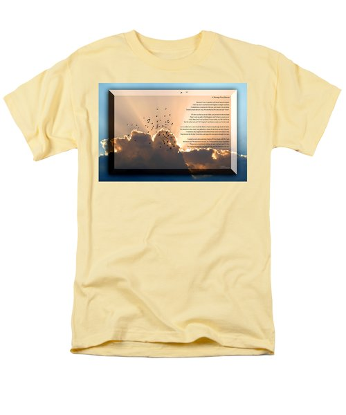 Message From Heaven Men's T-Shirt  (Regular Fit) by Carolyn Marshall