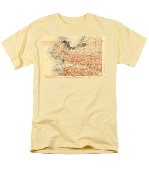 Monterey And Carmel Valley  Monterey Peninsula California  1912 Men's T-Shirt  (Regular Fit) by California Views Mr Pat Hathaway Archives