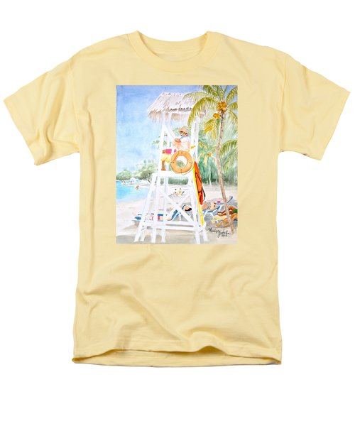 Men's T-Shirt  (Regular Fit) featuring the painting No Problem In Jamaica Mon by Marilyn Zalatan