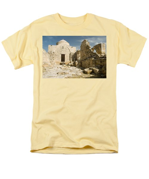 Old Church Anogyra  Men's T-Shirt  (Regular Fit) by Jeremy Voisey