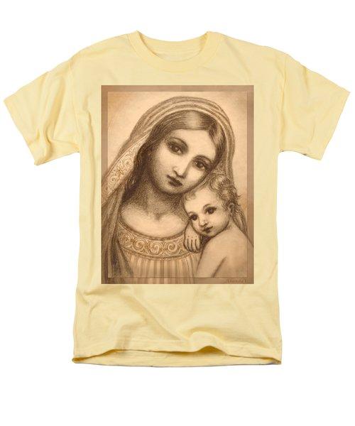 Oval Madonna Drawing Men's T-Shirt  (Regular Fit) by Ananda Vdovic