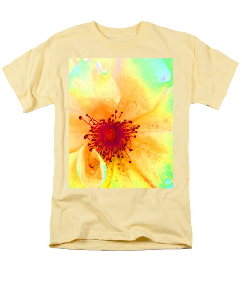 Pastel Garden Men's T-Shirt  (Regular Fit) by Charlotte Schafer