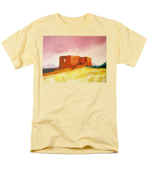 Men's T-Shirt  (Regular Fit) featuring the painting Pecos Mission Nm by Eric  Schiabor
