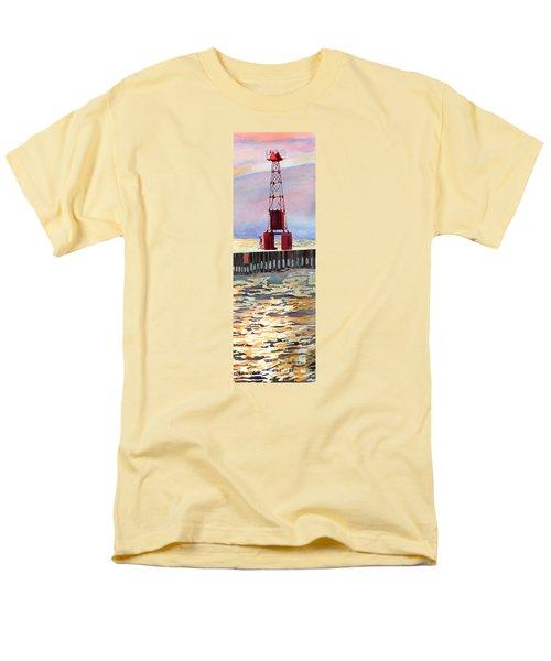 Pentwater South Pier Men's T-Shirt  (Regular Fit) by LeAnne Sowa