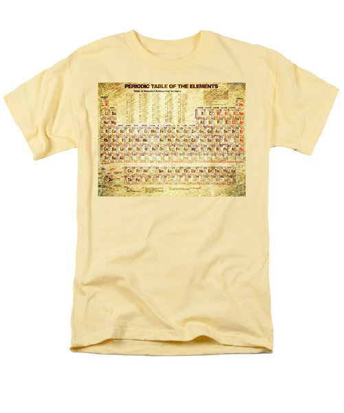 Periodic Table Of The Elements Vintage White Frame Men's T-Shirt  (Regular Fit) by Eti Reid