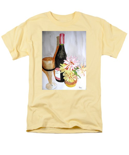 Men's T-Shirt  (Regular Fit) featuring the painting Pinot Noir by Sandy McIntire