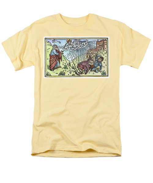 Men's T-Shirt  (Regular Fit) featuring the painting Plague Of Hail by Granger