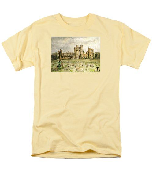 Plein Air Painting At Cowdray House Sussex Men's T-Shirt  (Regular Fit) by Angela Davies