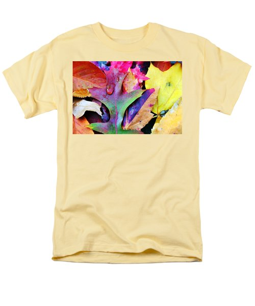Men's T-Shirt  (Regular Fit) featuring the photograph Primary Colors Of Fall by Judy Palkimas