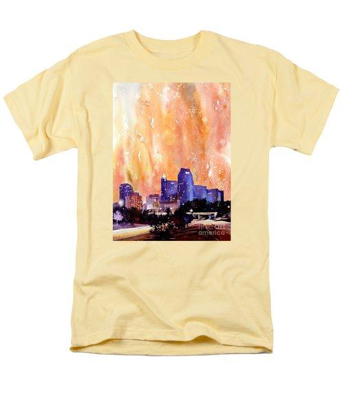 Raligh Skyline Sunset Men's T-Shirt  (Regular Fit)