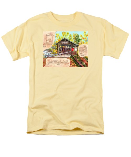 Men's T-Shirt  (Regular Fit) featuring the painting Rebuild The Bridge by LeAnne Sowa