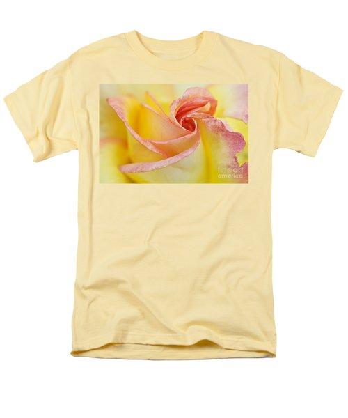 Rose Bud Opening Men's T-Shirt  (Regular Fit) by Lana Enderle