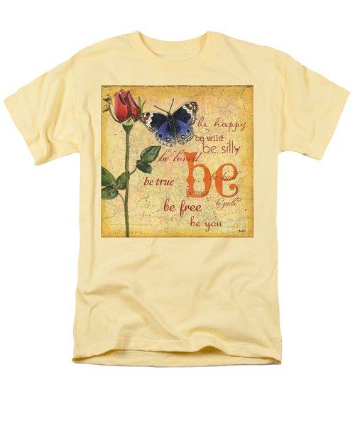Roses And Butterflies 1 Men's T-Shirt  (Regular Fit)