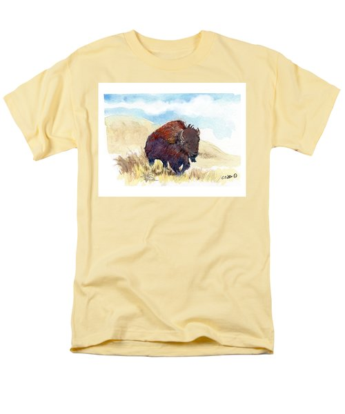 Running Buffalo Men's T-Shirt  (Regular Fit) by C Sitton