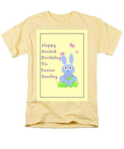 Second Birthday On Easter Men's T-Shirt  (Regular Fit) by Rosalie Scanlon