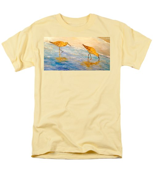 Men's T-Shirt  (Regular Fit) featuring the painting Shore Patrol by Alan Lakin