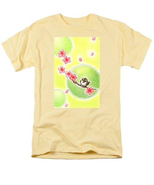 Men's T-Shirt  (Regular Fit) featuring the drawing Spring by Keiko Katsuta