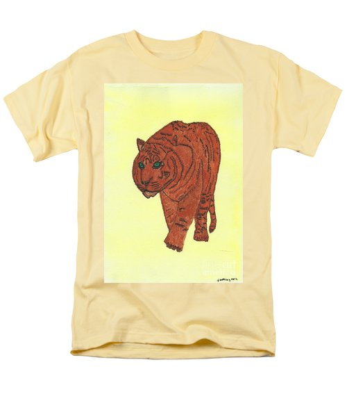 Men's T-Shirt  (Regular Fit) featuring the painting Stalking Tiger by Tracey Williams