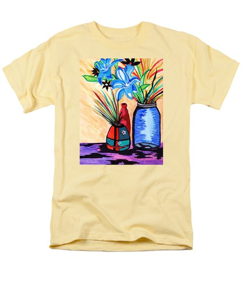 Men's T-Shirt  (Regular Fit) featuring the painting Still Life Flowers by Connie Valasco