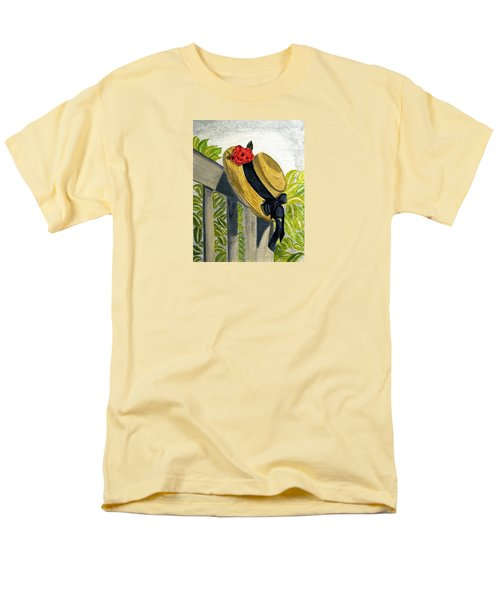 Men's T-Shirt  (Regular Fit) featuring the painting Summer Hat by Angela Davies