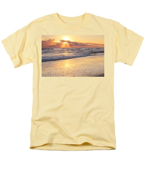 Men's T-Shirt  (Regular Fit) featuring the photograph Sunbeams On The Beach by Roupen  Baker