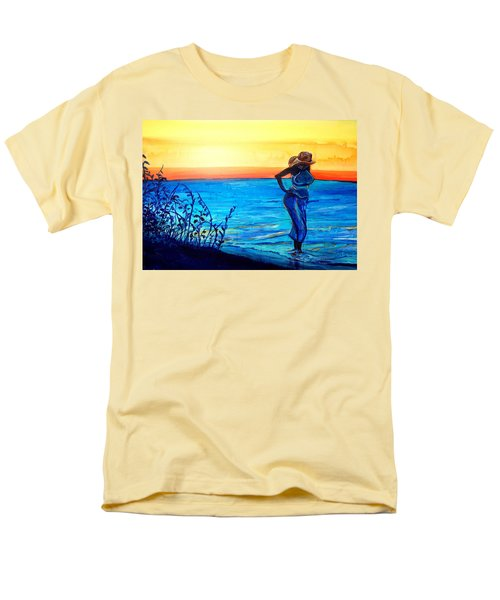 Men's T-Shirt  (Regular Fit) featuring the painting Sunrise Blues by Ecinja Art Works